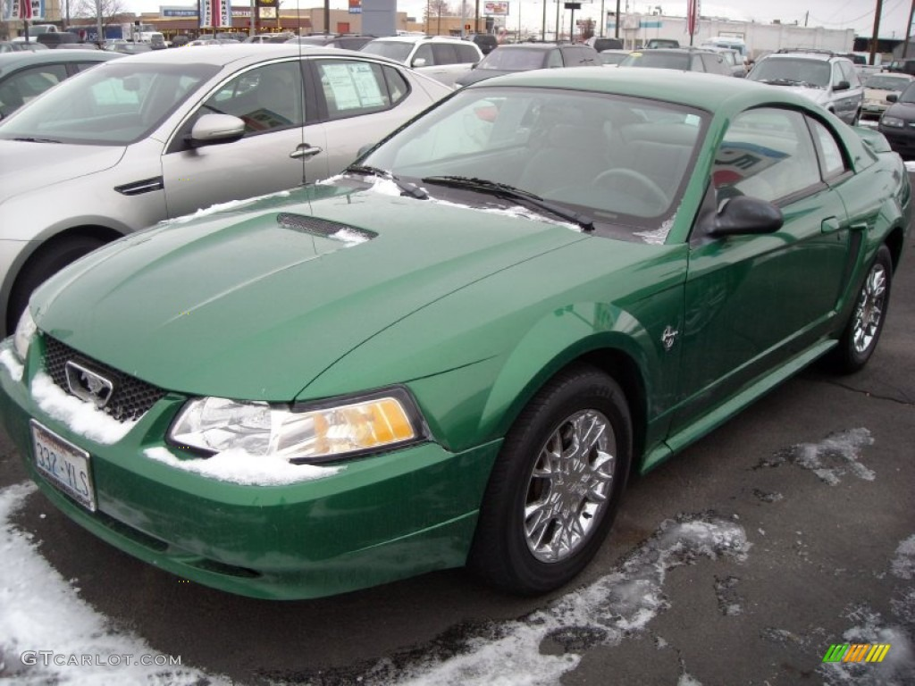 Electric Green Metallic Ford Mustang