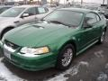 1999 Electric Green Metallic Ford Mustang V6 Coupe  photo #1
