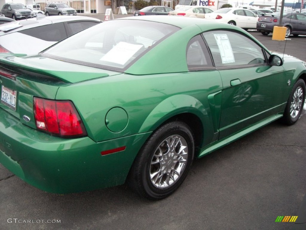1999 Mustang V6 Coupe - Electric Green Metallic / Light Graphite photo #4