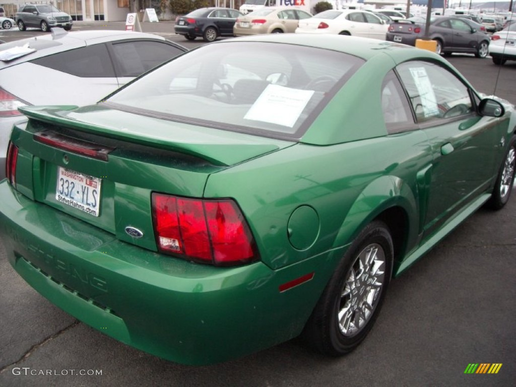 1999 Mustang V6 Coupe - Electric Green Metallic / Light Graphite photo #5