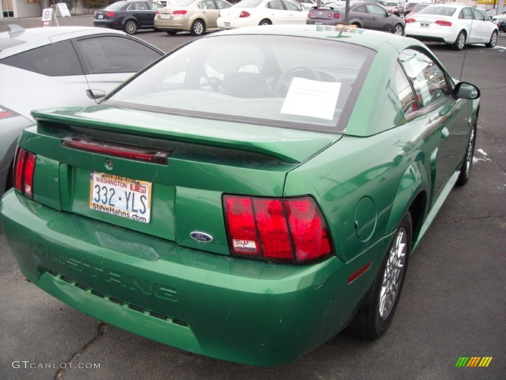 1999 Mustang V6 Coupe - Electric Green Metallic / Light Graphite photo #6
