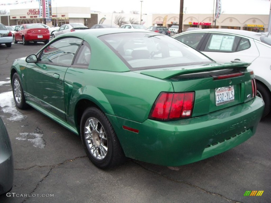 1999 Mustang V6 Coupe - Electric Green Metallic / Light Graphite photo #10