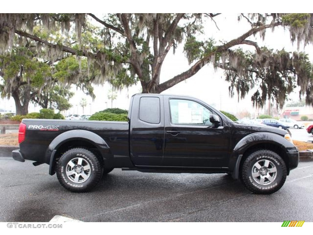 super black 2012 nissan frontier pro 4x king cab 4x4 exterior photo 75434178. Black Bedroom Furniture Sets. Home Design Ideas