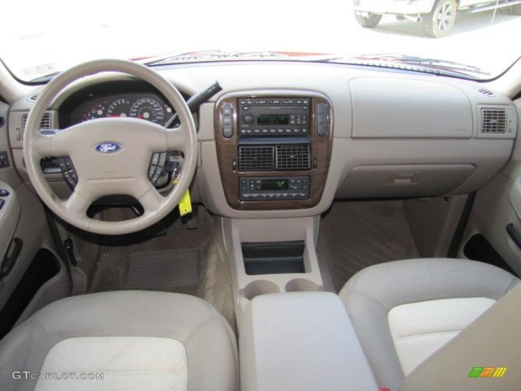 2003 Ford Explorer Eddie Bauer Medium Parchment Beige Dashboard Photo #75446161