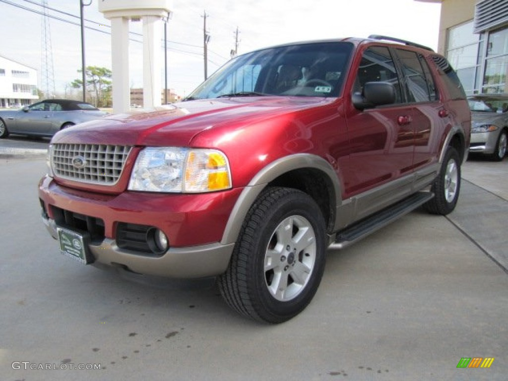 Redfire Metallic 2003 Ford Explorer Eddie Bauer Exterior Photo #75446184