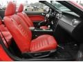 2008 Ford Mustang Black/Red Interior Front Seat Photo