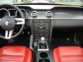 2008 Ford Mustang Black/Red Interior Dashboard Photo