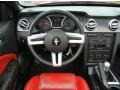 2008 Ford Mustang Black/Red Interior Steering Wheel Photo
