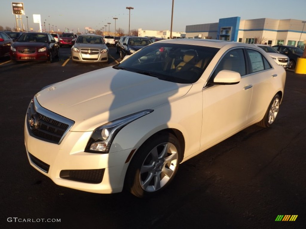 2013 White Diamond Tricoat Cadillac Ats 2 0l Turbo 75394658 Car Color Galleries