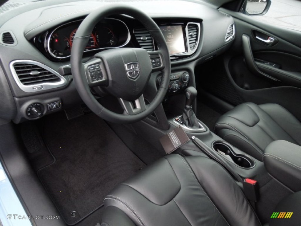 Black Interior 2013 Dodge Dart Limited Photo 75458822