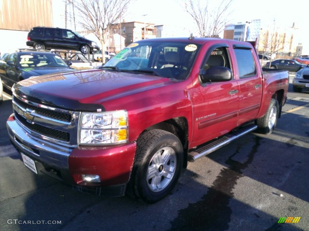 2009 Silverado 1500 LT Z71 Crew Cab 4x4 - Deep Ruby Red Metallic / Light Titanium photo #1
