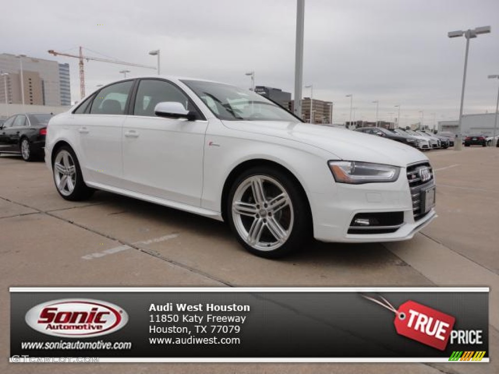 2013 ibis white audi s4 3 0t quattro sedan 75457376 car color galleries. Black Bedroom Furniture Sets. Home Design Ideas
