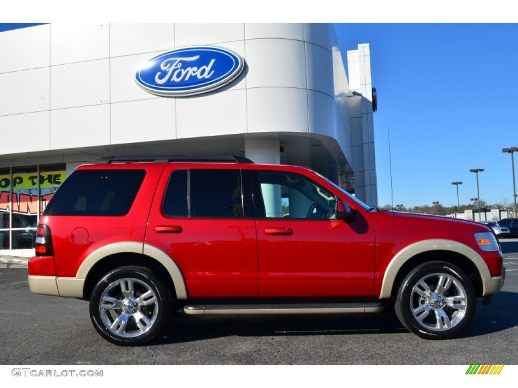 sangria red metallic 2009 ford explorer eddie bauer exterior photo 75504296. Black Bedroom Furniture Sets. Home Design Ideas