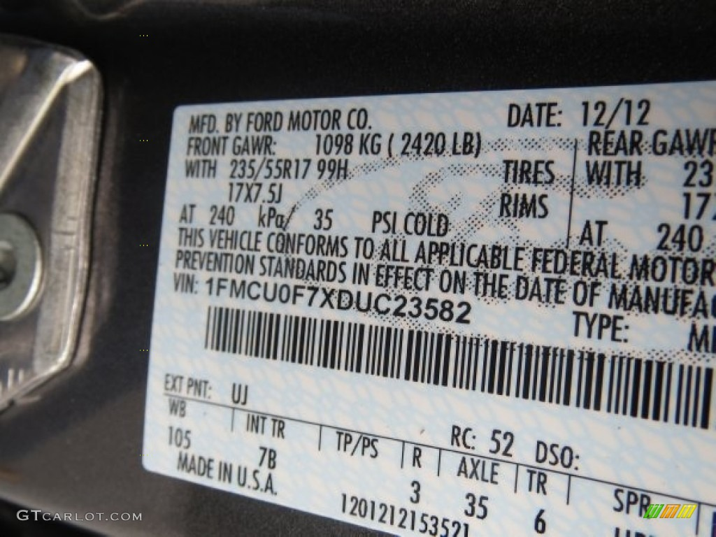 2013 Ford Escape S Color Code Photos Gtcarlot Com