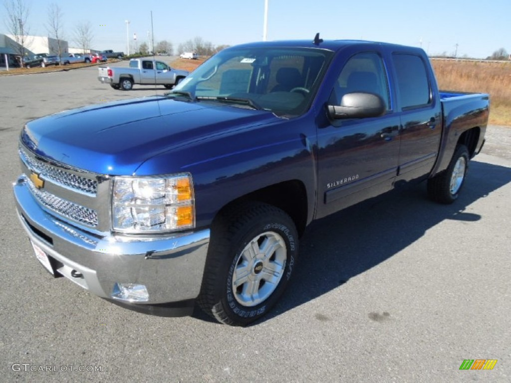 2013 Silverado 1500 LT Crew Cab - Blue Topaz Metallic / Ebony photo #1