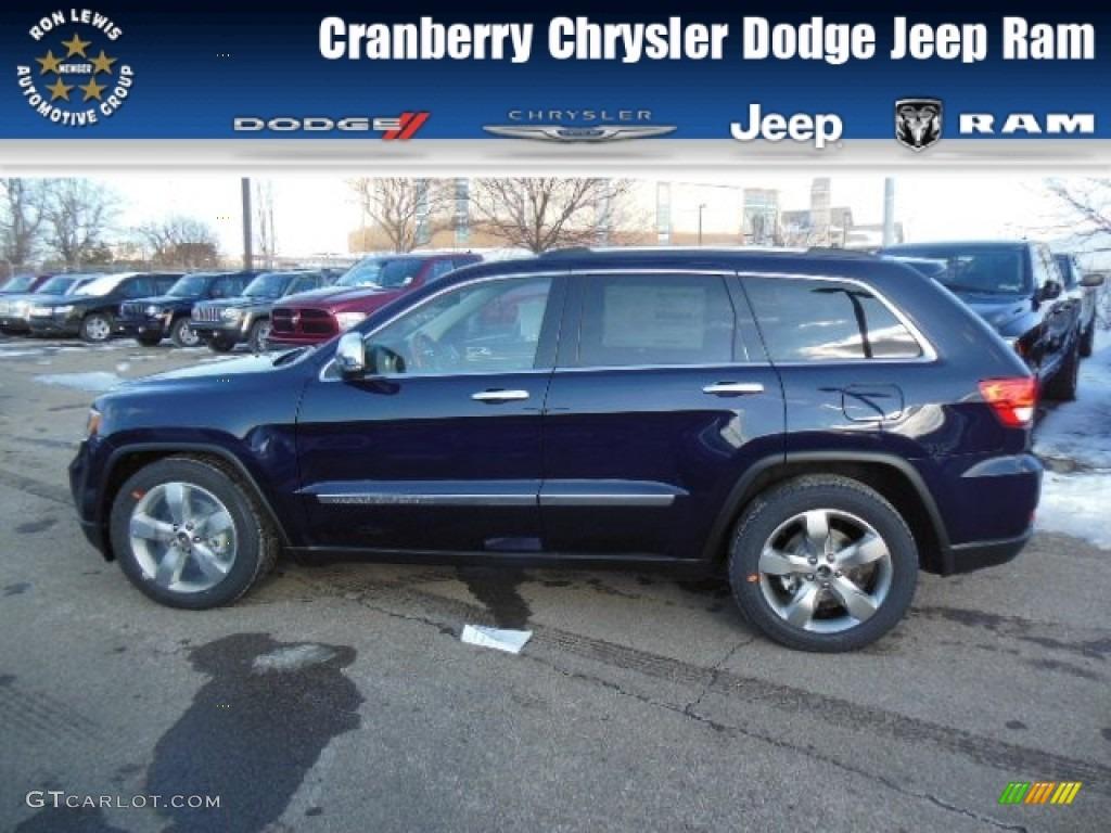 2013 True Blue Pearl Jeep Grand Cherokee Overland 4x4