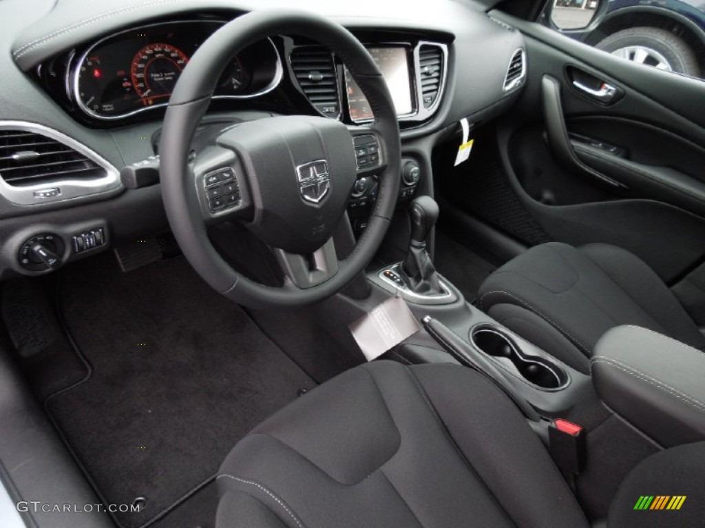 Black Interior 2013 Dodge Dart Limited Photo #75520666