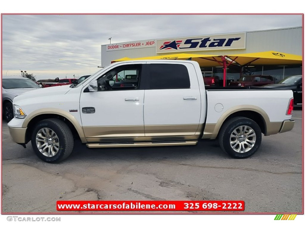 2013 bright white ram 1500 laramie longhorn crew cab 75457491 photo 3 car. Black Bedroom Furniture Sets. Home Design Ideas