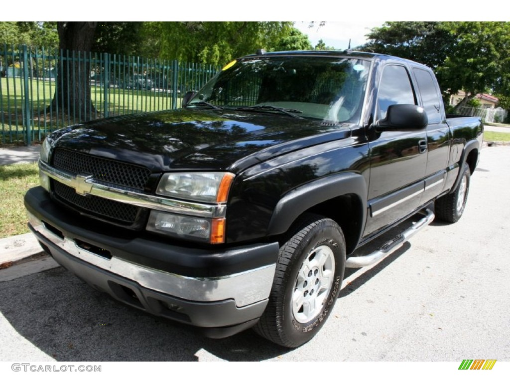 2004 black chevrolet silverado 1500 lt extended cab 4x4 75524572 car color. Black Bedroom Furniture Sets. Home Design Ideas