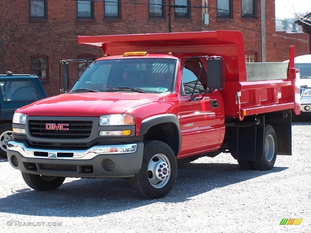Fire red gmc sierra 3500