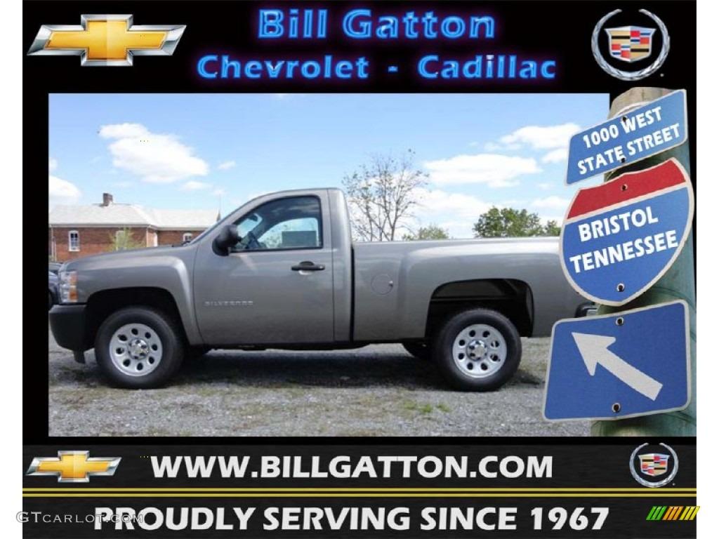 2012 Silverado 1500 Work Truck Regular Cab - Graystone Metallic / Dark Titanium photo #1