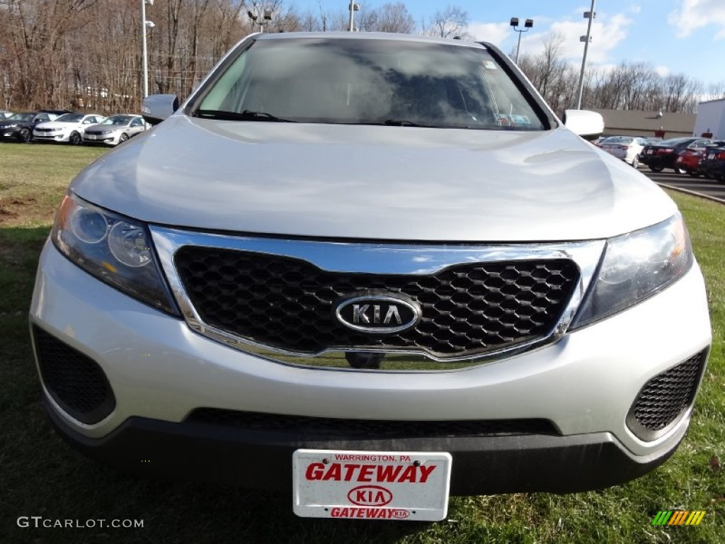 2011 Sorento LX AWD - Bright Silver / Gray photo #3