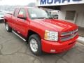 2013 Victory Red Chevrolet Silverado 1500 LT Extended Cab 4x4  photo #2