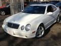 Alabaster White 2002 Mercedes-Benz CLK 430 Coupe