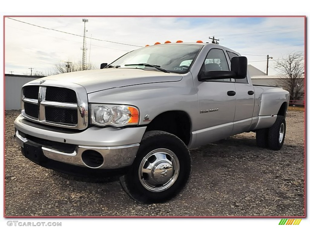 2004 bright silver metallic dodge ram 3500 slt quad cab. Black Bedroom Furniture Sets. Home Design Ideas