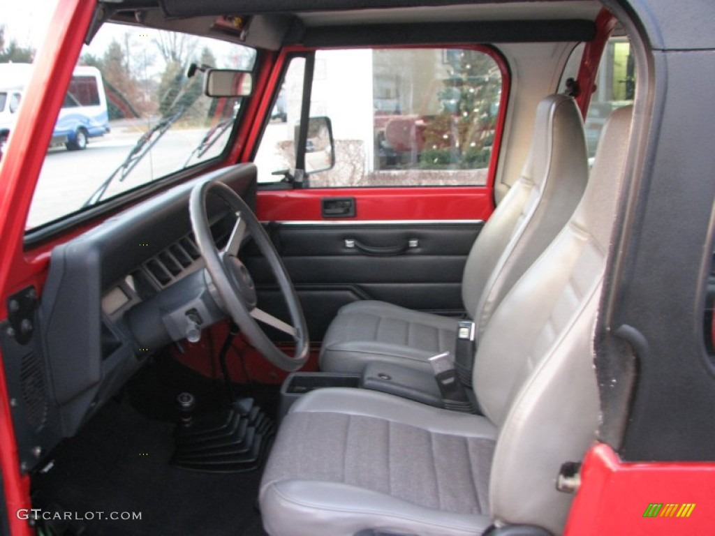 1994 poppy red jeep wrangler s 4x4 75612521 photo 9 - Jeep wrangler red interior for sale ...