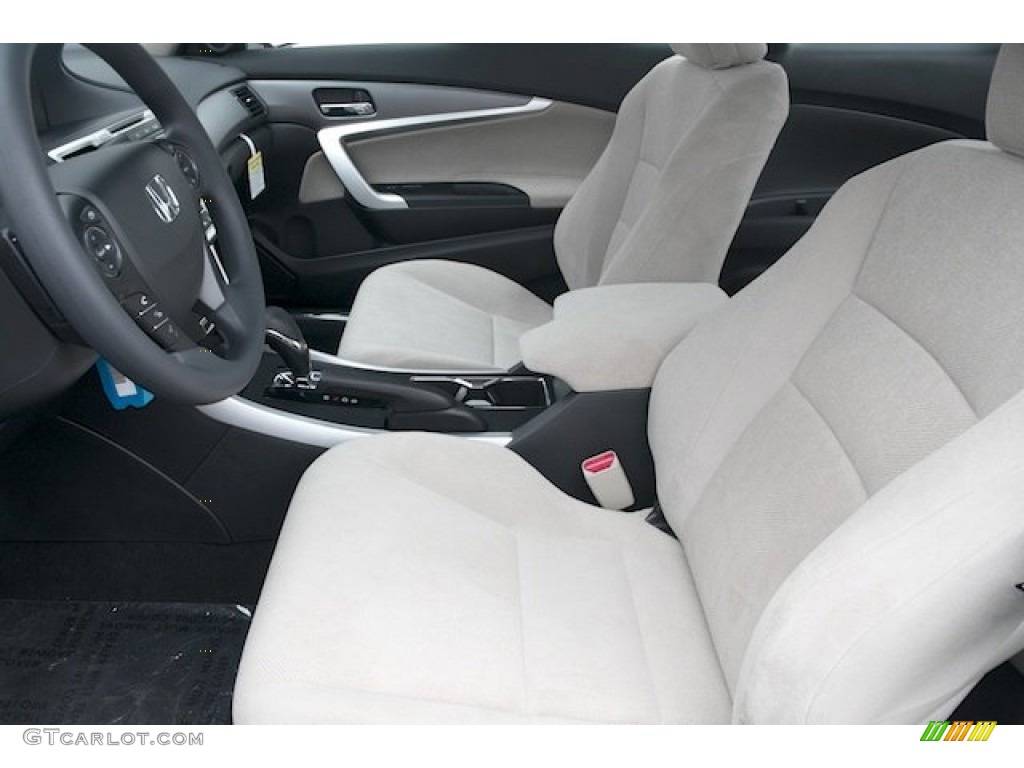 Black/Ivory Interior 2013 Honda Accord LX S Coupe Photo #75619488
