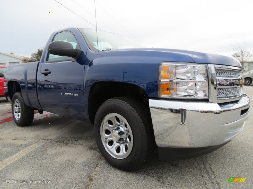 2013 Silverado 1500 LS Regular Cab - Blue Topaz Metallic / Dark Titanium photo #1