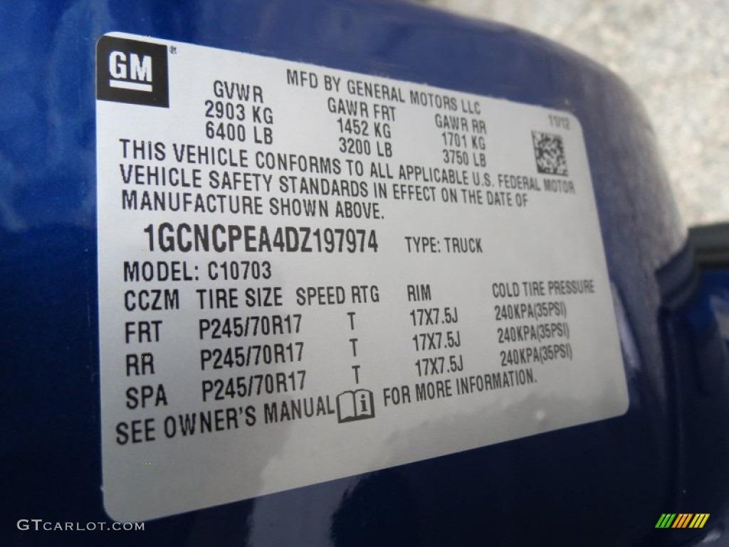 2013 Silverado 1500 LS Regular Cab - Blue Topaz Metallic / Dark Titanium photo #17