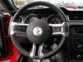 2013 Ford Mustang California Special Charcoal Black/Miko-suede Inserts Interior Steering Wheel Photo
