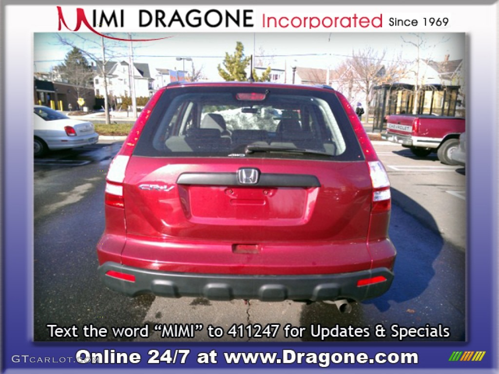2009 CR-V LX 4WD - Tango Red Pearl / Gray photo #5