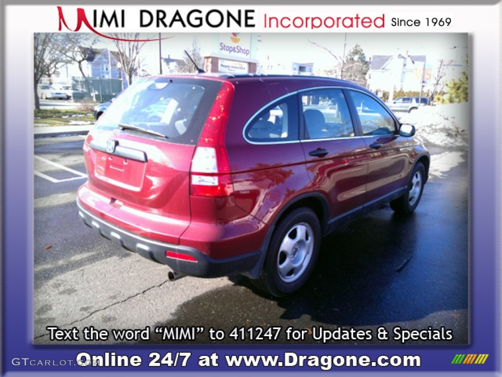 2009 CR-V LX 4WD - Tango Red Pearl / Gray photo #6