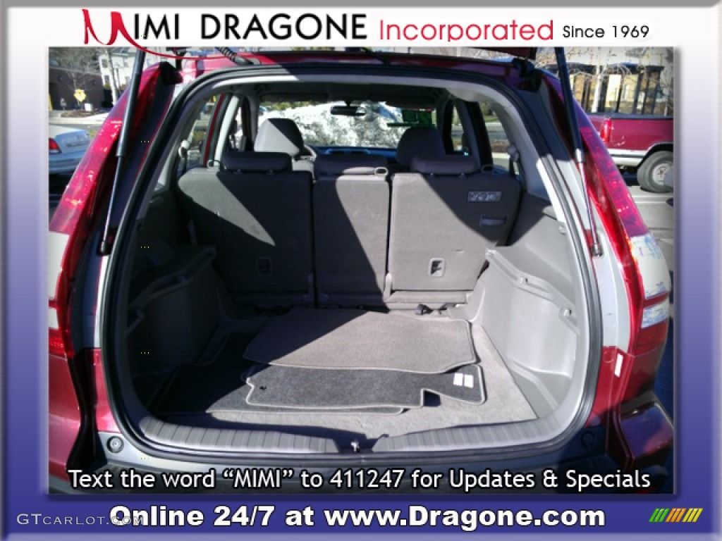2009 CR-V LX 4WD - Tango Red Pearl / Gray photo #7