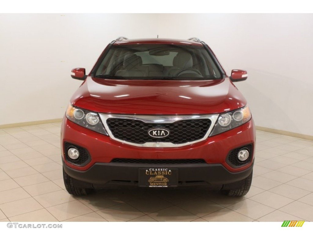 2011 Sorento LX - Spicy Red / Gray photo #2