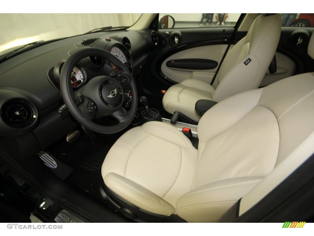 Polar Beige Gravity Leather Interior 2013 Mini Cooper S Countryman