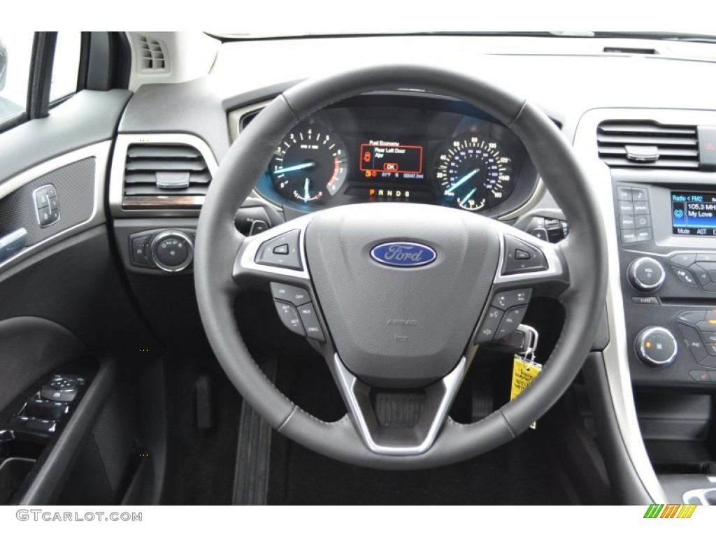 2013 ford fusion se 2 0 ecoboost charcoal black steering wheel photo 75673593. Black Bedroom Furniture Sets. Home Design Ideas
