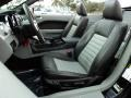 2009 Ford Mustang Black/Dove Interior Front Seat Photo
