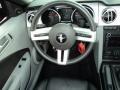 2009 Ford Mustang Black/Dove Interior Steering Wheel Photo