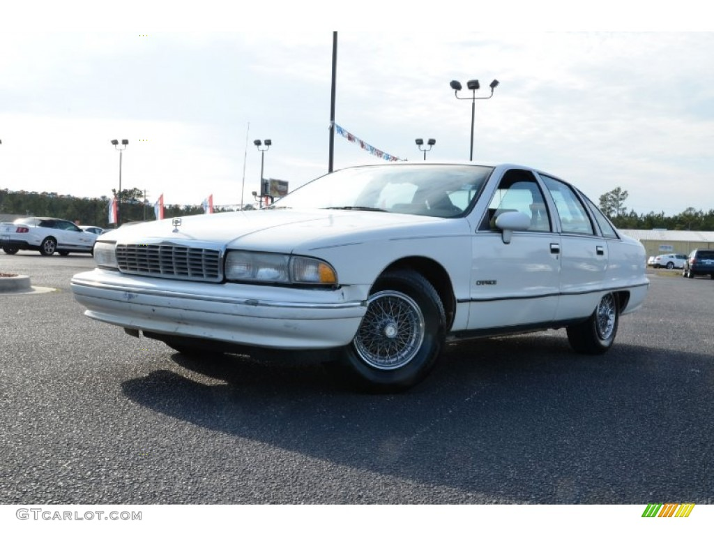 Arctic White Chevrolet Caprice