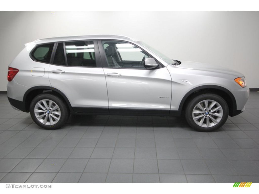 Titanium Silver Metallic 2013 Bmw X3 Xdrive 28i Exterior Photo 75683205