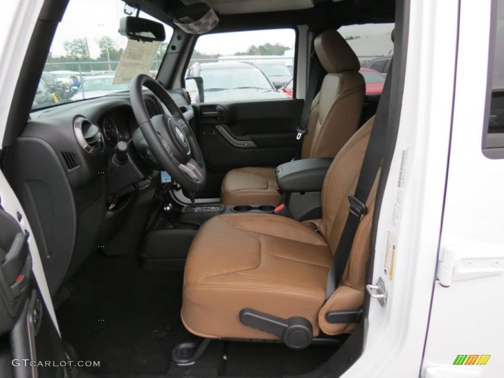 Black Dark Saddle Interior 2013 Jeep Wrangler Unlimited Moab Edition 4x4 Photo 75727208