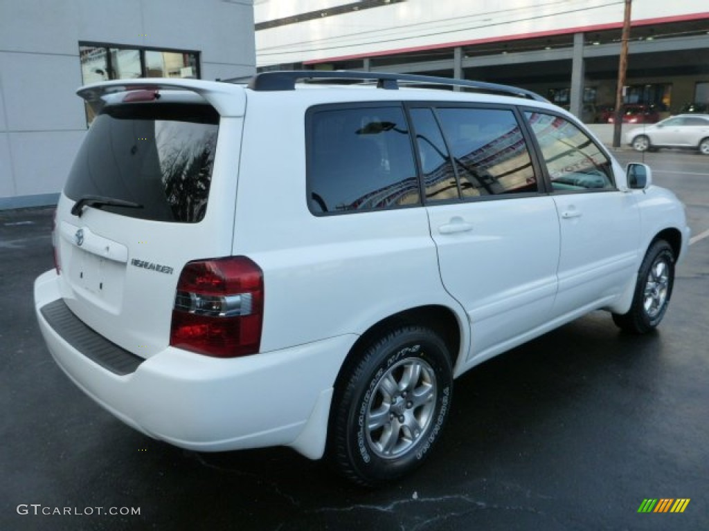 super white 2007 toyota highlander v6 exterior photo. Black Bedroom Furniture Sets. Home Design Ideas