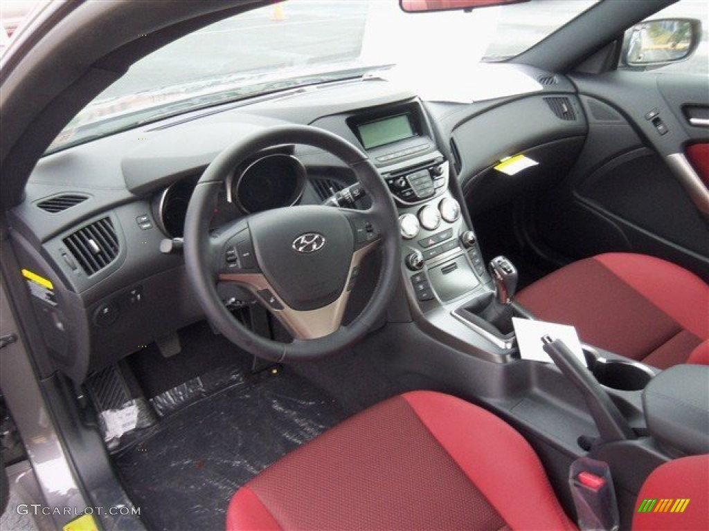 Red Leather Red Cloth Interior 2013 Hyundai Genesis Coupe 2 0t R Spec Photo 75734601 Gtcarlot Com