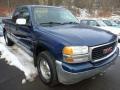 Indigo Blue Metallic 2000 GMC Sierra 1500 SLE Extended Cab 4x4