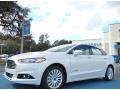 2013 Oxford White Ford Fusion Hybrid SE  photo #1