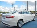 2013 Oxford White Ford Fusion Hybrid SE  photo #3